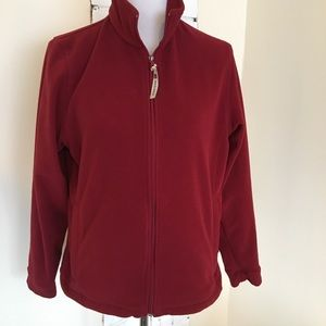 Woolrich Fleece Jacket Red Full Zip M